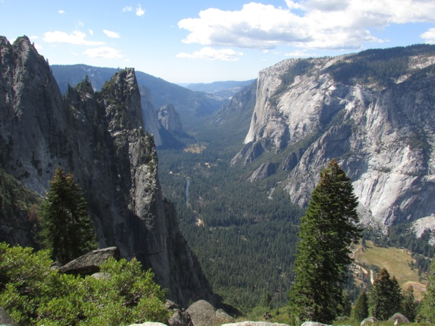 The view between Cathedral Spires and El Capitan